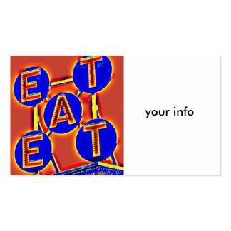 eat business card standard business cards