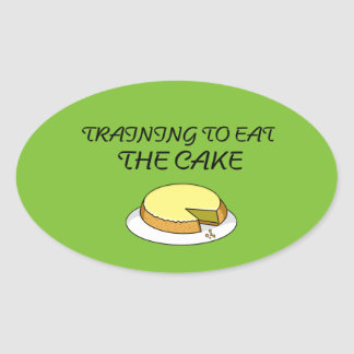 Eat cake gym sticker