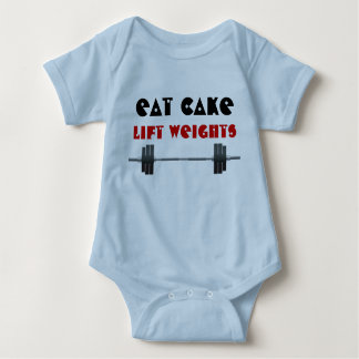 Eat cake Lift weights Baby Bodysuit