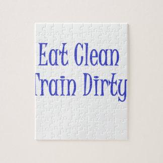 Eat Clean- Blue Puzzle