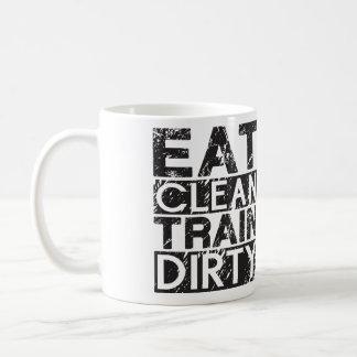 Eat Clean Train Dirty Basic White Mug