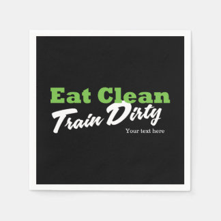 EAT CLEAN TRAIN DIRTY Gym Workout Fitness Party Paper Napkin