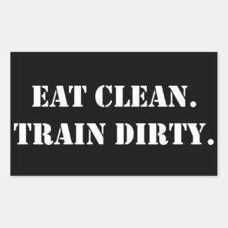 Eat Clean Train Dirty Rechteckige Aufkleber