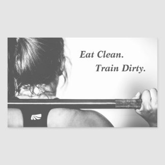 Eat Clean, Train Dirty Rectangular Sticker