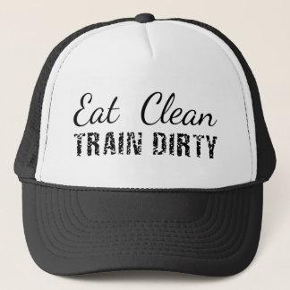 Eat Clean, Train Dirty Trucker Hat