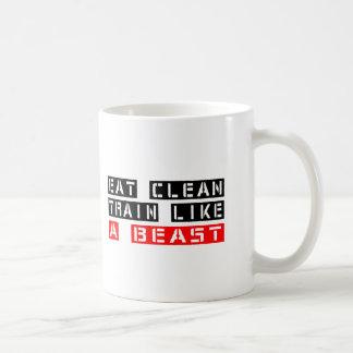Eat Clean Train Like A Beast Coffee Mug