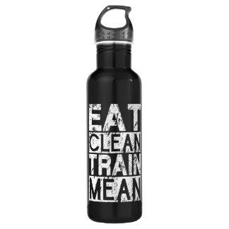 EAT CLEAN, TRAIN MEAN - Workout Motivational 710 Ml Water Bottle