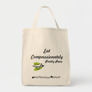 Eat Compassionately Pretty Peas Tote Bag
