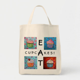 EAT CUPCAKES! grocery Bag