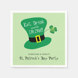 Eat, Drink and Be Irish St. Patrick's Day Party Disposable Serviettes