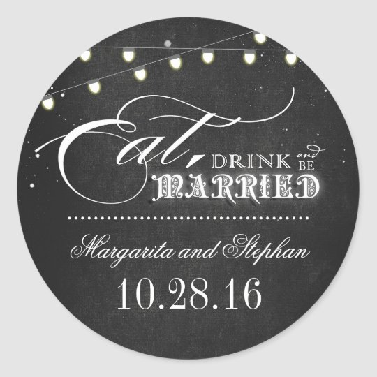 eat drink and be married chalkboard wedding classic