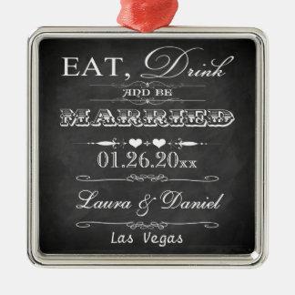 Eat, Drink and Be Married Christmas Keepsake Christmas Ornament