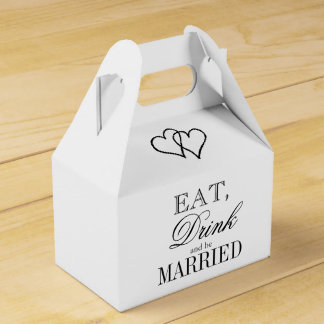 Eat drink and be married quote wedding favor box
