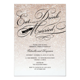 Eat Drink And Be Married Rehearsal Dinner Invite