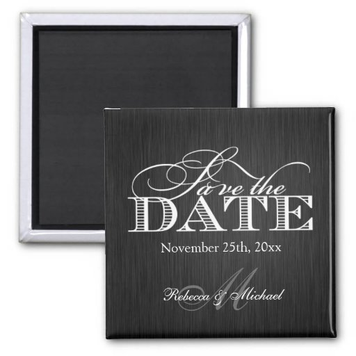 Eat Drink and be Married -  Save the Date Fridge Magnet