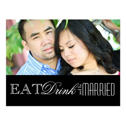 Eat, Drink and be Married | Save the Date Post Card