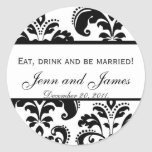 Eat, Drink, and be Married Stickers