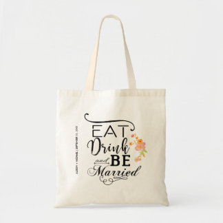 Eat drink and be married typography peonies