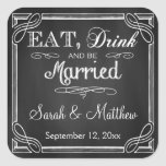 Eat Drink and be Married Wedding Favour Stickers