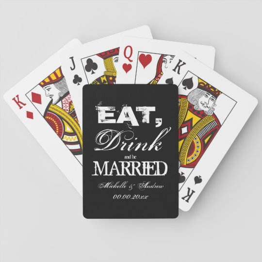 Eat drink and be married wedding party favours