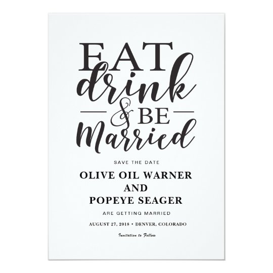 Eat Drink and Be Married Wedding Save the