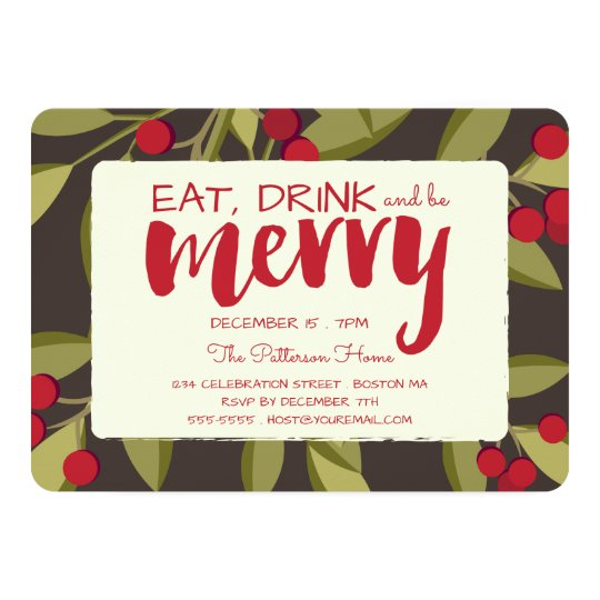 Eat, Drink and be Merry Holiday Christmas Party