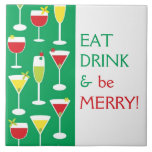 Eat Drink and Be Merry Large Tile Trivet