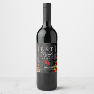 Eat, Drink and Be Merry - Romance Wine Label