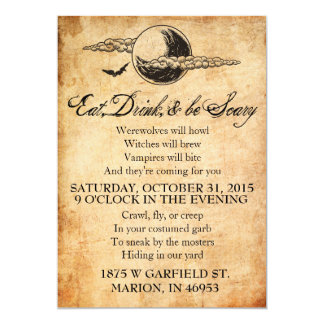 Eat, Drink, and Be Scary Halloween Invitation