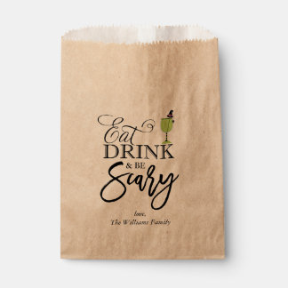 """""""Eat, Drink and Be Scary"""" Halloween Party Favour Bags"""