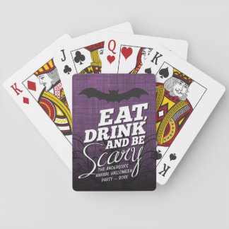 Eat, Drink and Be Scary - Halloween Party Playing Cards