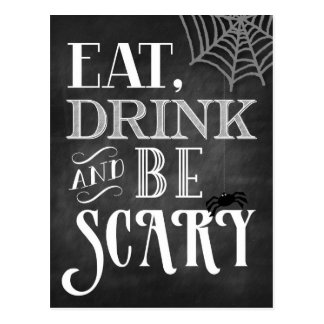 Eat Drink and Be Scary Postcard