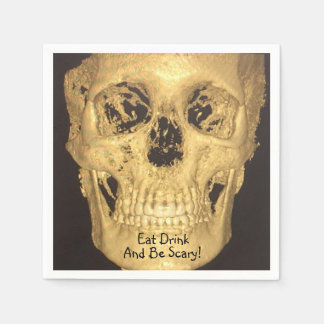 Eat Drink And Be Scary Skull Paper Serviettes