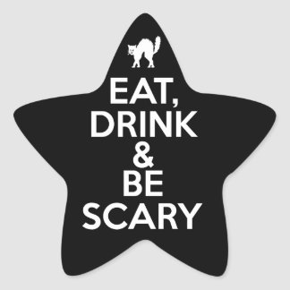 Eat Drink and Be Scary Star Sticker