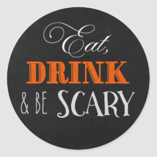 Eat drink and be scary stickers