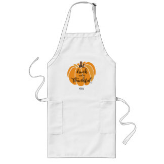 Eat Drink And Be Thankful Long Apron