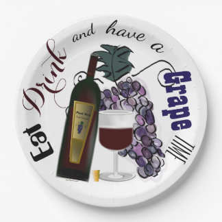 Eat Drink and Have a Grape Time Paper Plate