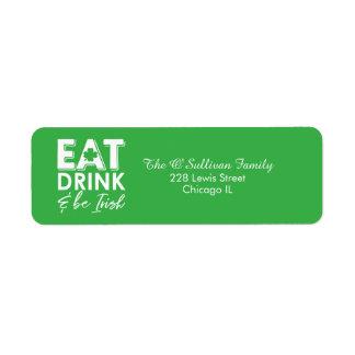 Eat, Drink & Be Irish Modern St. Patrick's Day