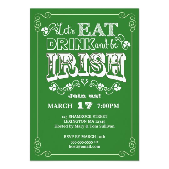Eat, Drink & Be Irish St. Patrick's Day