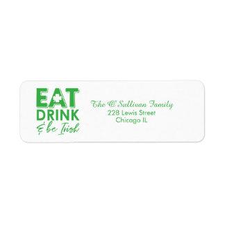 Eat, Drink & Be Irish Typography St. Patrick's Day