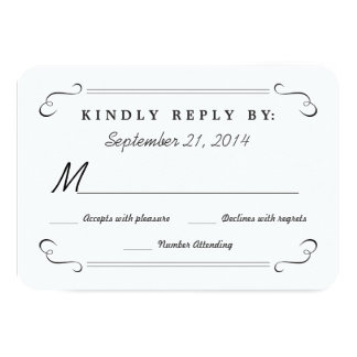 Eat Drink be Married Chalkboard Rounded RSVP 9 Cm X 13 Cm Invitation Card