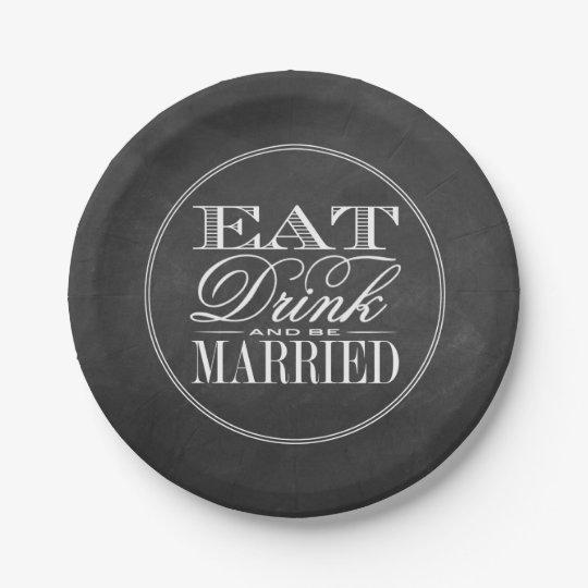 Eat, Drink & Be Married Chalkboard Wedding 7