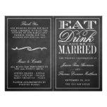 Eat, Drink & Be Married Chalkboard Wedding 21.5 Cm X 28 Cm Flyer