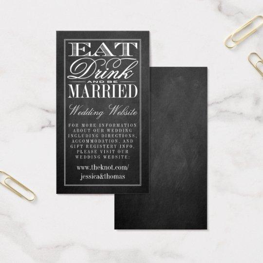 Eat, Drink & Be Married Chalkboard Wedding Website