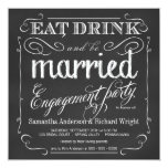 Eat Drink be Married Engagement Party Invitations