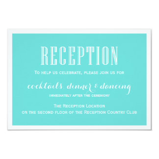 Eat Drink & be Married Tiffany Blue Reception Card