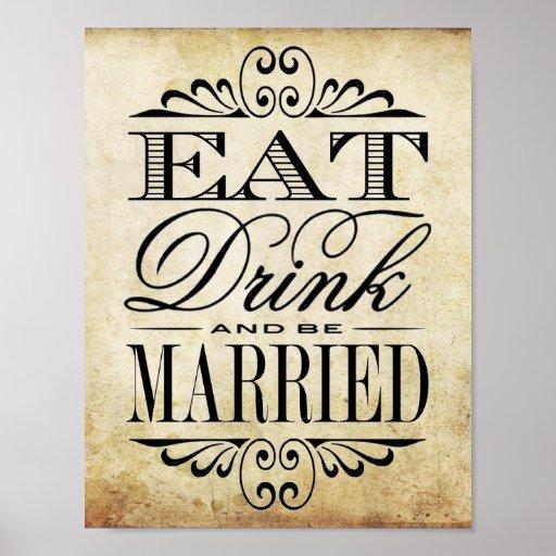 Eat, Drink & Be Married - Vintage Wedding