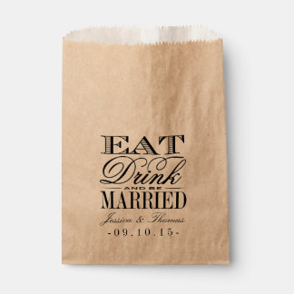 Eat, Drink & Be Married Wedding Favor Bag Favour Bags