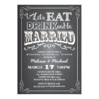 Eat, Drink & Be Married Wedding Rehearsal Dinner Card