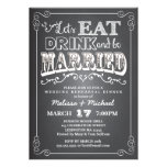 Eat, Drink & Be Married Wedding Rehearsal Dinner Personalized Invitations